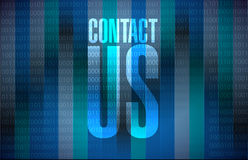 Contact us binary sign concept illustration Royalty Free Stock Photos