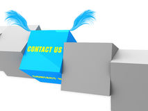 Contact us on block Royalty Free Stock Image