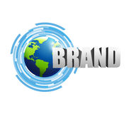 Contact us brand technology Stock Photo