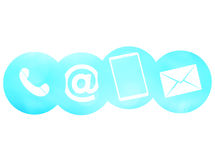 Contact us bright icons Royalty Free Stock Image