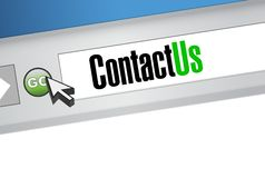 Contact us browser illustration Stock Image