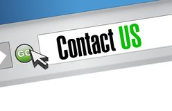 contact us browser sign concept Stock Photos