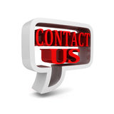 'Contact us' bubble speech icon sign Royalty Free Stock Image