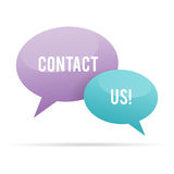 Contact Us Bubble Speech Stock Photo