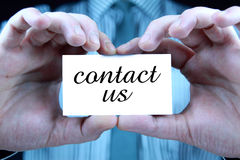Contact us - business card Royalty Free Stock Photos