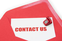 Contact us Stock Photo