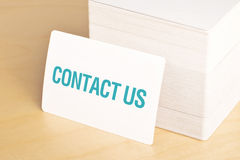 Contact us Business cards Royalty Free Stock Photography
