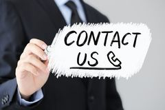 Contact Us  Business Concept stock photography