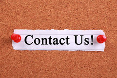 Contact Us Stock Image
