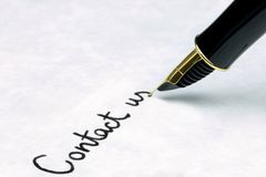 Contact Us on business letter Stock Photo