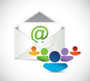 Contact us business team support illustration Royalty Free Stock Image