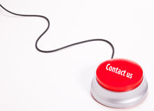 Contact us button. With a black wire on white Royalty Free Stock Images