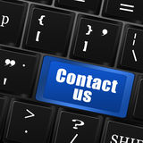 Contact us button on computer keyboard Stock Images