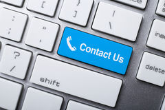 Contact Us Button On Keyboard Royalty Free Stock Photography
