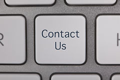 Contact Us Button on Keyboard Stock Image