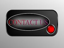Contact us with button Royalty Free Stock Photography