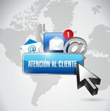 contact us button in spanish and icons. Royalty Free Stock Photos