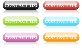 Contact us buttons royalty free illustration