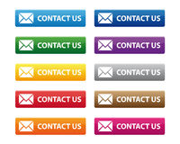 Contact us buttons stock illustration