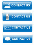 Contact us buttons. Illustration of various way for contacting customer support Royalty Free Stock Images