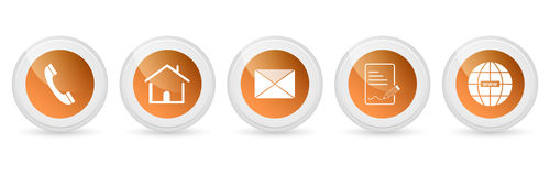 Contact us  buttons - set. Royalty Free Stock Photography