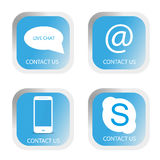 Contact us buttons set Stock Photo