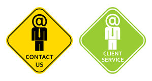 Contact us - client service sign Stock Image