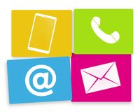 Contact us colored fresh design icons Royalty Free Stock Photos