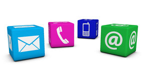 Contact Us Colorful Cubes Stock Images