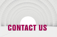 Contact us, communication concept stock illustration