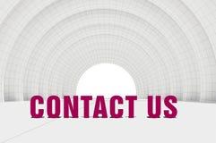 Contact us, communication concept Stock Photo