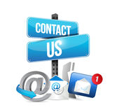 Contact us communication icons Royalty Free Stock Photos