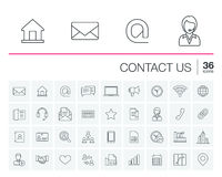 Contact us and Communication vector icons Stock Photo