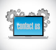 Contact us computer laptop sign concept Stock Photography