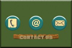 Contact us concept communication connection contact through telephone email and mail contact link royalty free illustration
