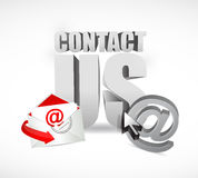 Contact us concept illustration design Royalty Free Stock Images