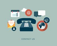 Contact us concept illustration Royalty Free Stock Images