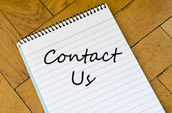 Contact us concept on notebook Royalty Free Stock Image