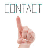 Contact us concept using female hand and safety matches Stock Photography