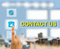Contact us concept Royalty Free Stock Photography