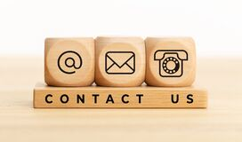Website page contact us or e-mail marketing