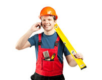 Contact us! Construction services Stock Photography