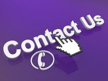 Contact us cursor Royalty Free Stock Photos
