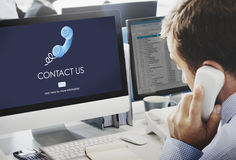 Contact Us Customer Care Assistance Help Service Concept royalty free stock image