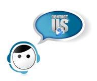Contact us customer service representative Stock Photo