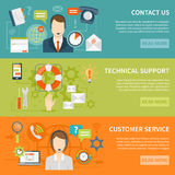 Contact Us Customer Support Banners Royalty Free Stock Image
