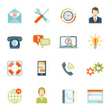 Contact Us Customer Support Icons Set Stock Photo