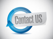 Contact us cycle sign concept illustration Stock Photos
