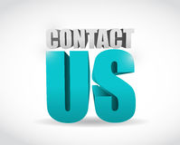 Contact us 3d text illustration Stock Photography