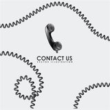 Contact us design Royalty Free Stock Images